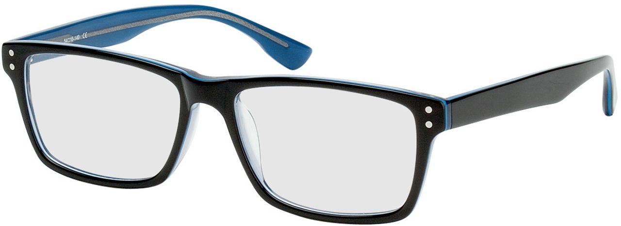 Picture of glasses model München-schwarz/blau in angle 330