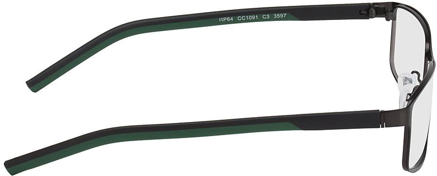 Picture of glasses model Lissabon-noir/vert in angle 90