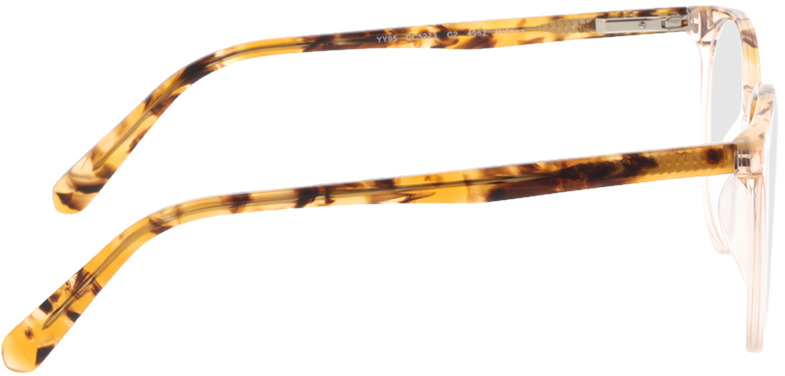 Picture of glasses model Holmen-braun-transparent in angle 90