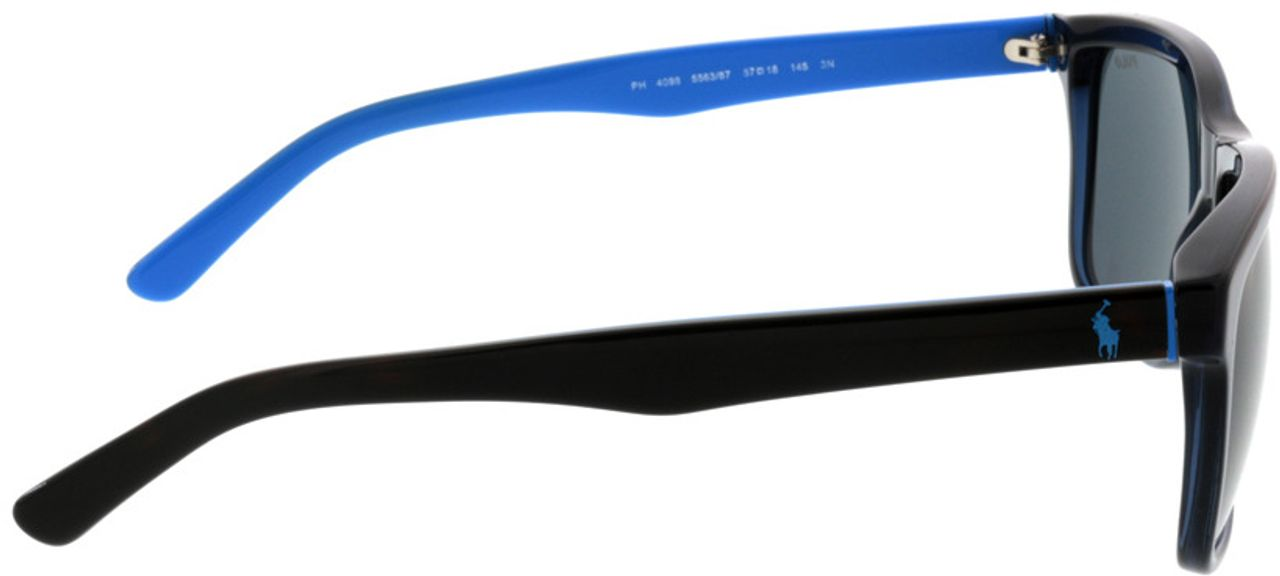 Picture of glasses model Polo Ralph Lauren PH4098 556387 57-18 in angle 90