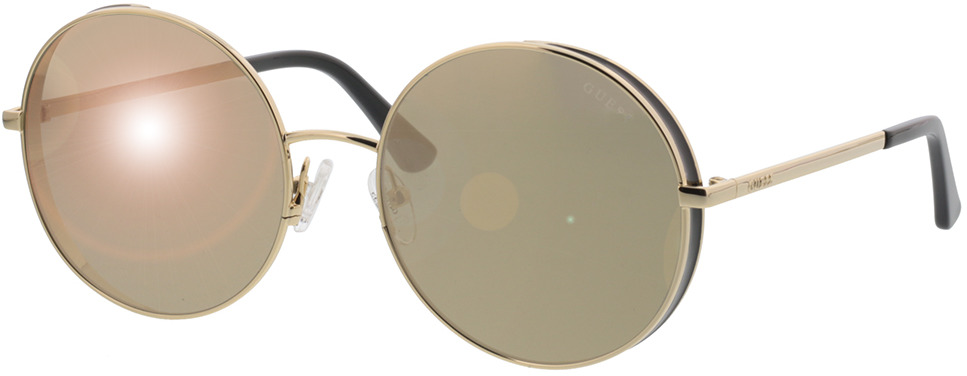 Picture of glasses model Guess GU7606 32G 57-18 in angle 330