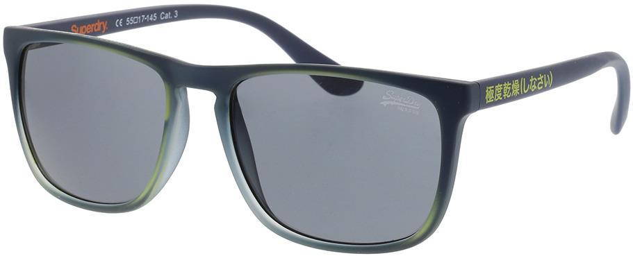 Picture of glasses model Superdry SDS Stockholm 106 Mat navy/Limoen 55-17 in angle 330