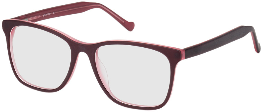 Picture of glasses model Napier-rot in angle 330