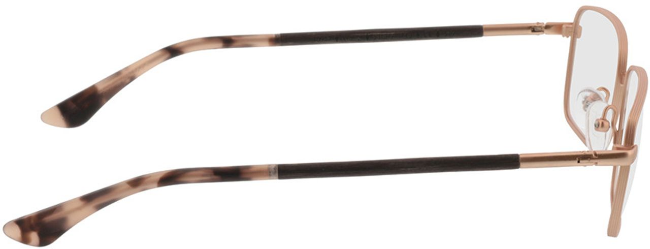 Picture of glasses model Wood Fellas Optical Falkenfels walnut 53-11 in angle 90