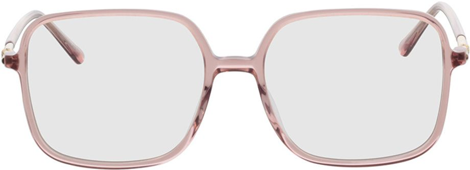 Picture of glasses model Donna-pink-transparent in angle 0