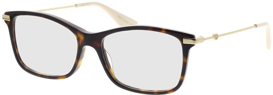Picture of glasses model Gucci GG0513O-002 54-16 in angle 330
