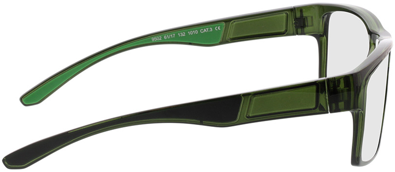 Picture of glasses model Blaze-transparent khaki/grün in angle 90
