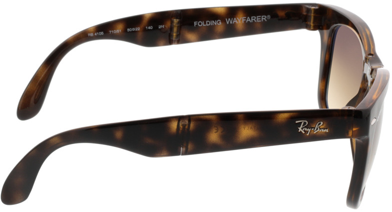 Picture of glasses model Ray-Ban Folding Wayfarer RB4105 710/51 50-22 in angle 90