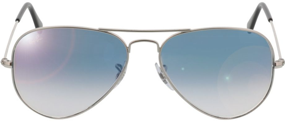 Picture of glasses model Ray-Ban Aviator Large Metal RB 3025 003/3F 55-14 in angle 0