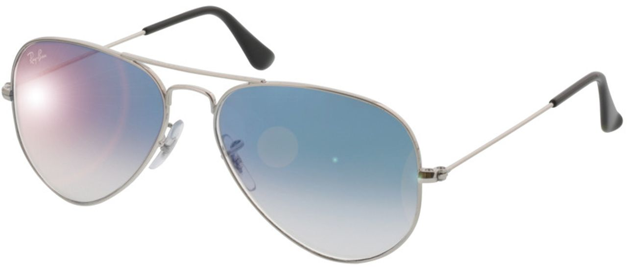 Picture of glasses model Ray-Ban Aviator Large Metal RB 3025 003/3F 55-14 in angle 330