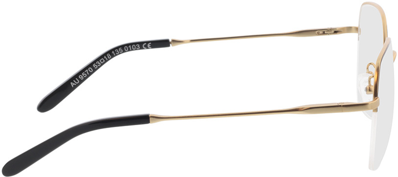 Picture of glasses model Electra-gold/schwarz in angle 90