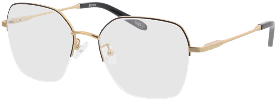 Picture of glasses model Electra-gold/schwarz in angle 330