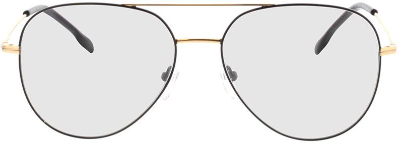Picture of glasses model Kreuzberg-schwarz/gold in angle 0