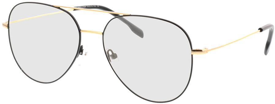 Picture of glasses model Kreuzberg-schwarz/gold in angle 330
