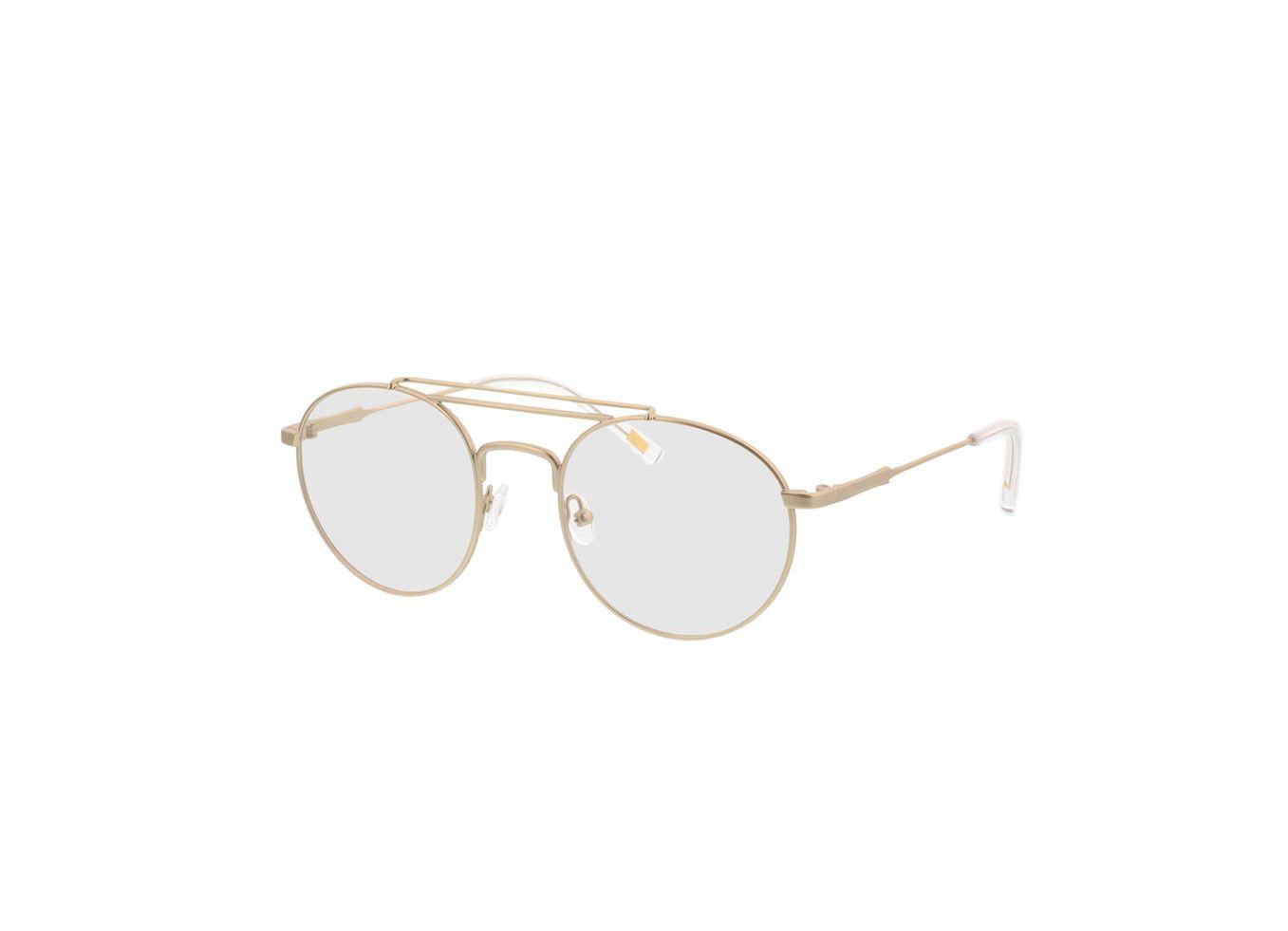 4250325293021-singlevision-0000 Angelo-gold Gleitsichtbrille, Vollrand, Rund OMNIO by Brille24