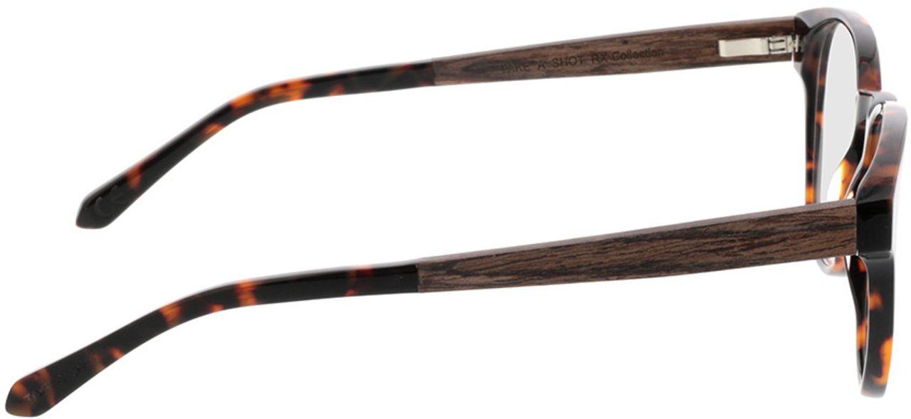 Picture of glasses model TAKE A SHOT Tali Hazelnut RX: Walnussholz 50-22 in angle 90
