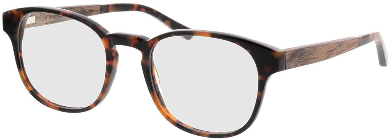 Picture of glasses model TAKE A SHOT Tali Hazelnut RX: Walnussholz 50-22 in angle 330