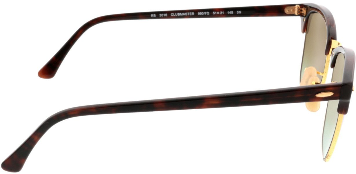 Picture of glasses model Ray-Ban Clubmaster RB3016 990/7Q 51-21 in angle 90