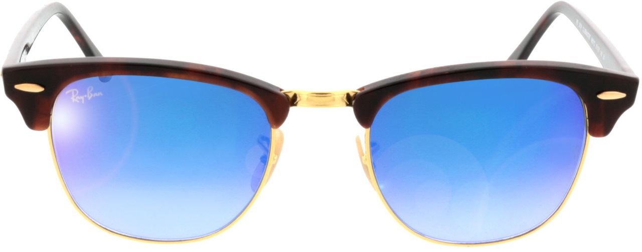 Picture of glasses model Ray-Ban Clubmaster RB3016 990/7Q 51-21 in angle 0