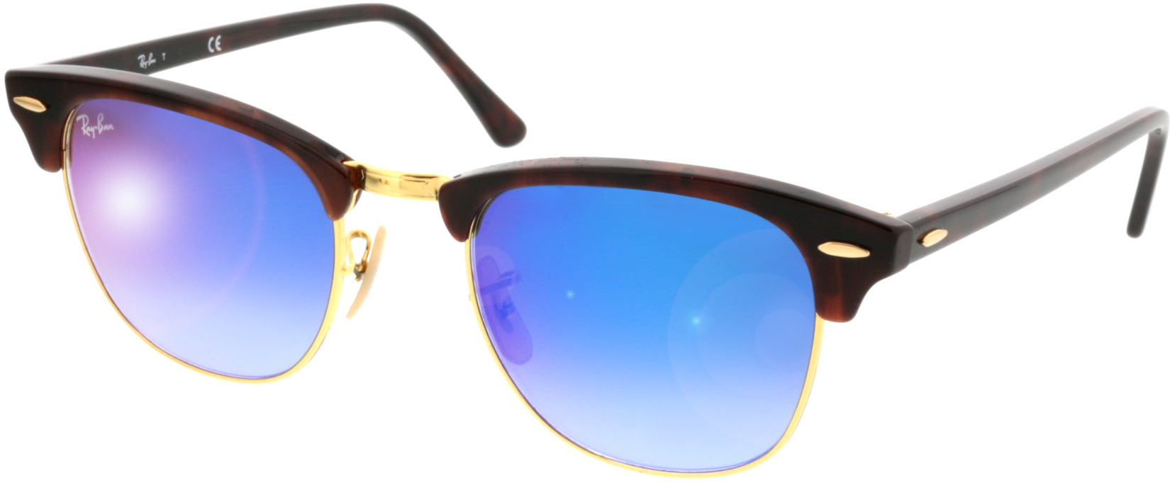 Picture of glasses model Ray-Ban Clubmaster RB3016 990/7Q 51 21