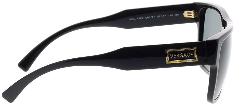 Picture of glasses model Versace VE4379 GB1/87 56-17 in angle 90