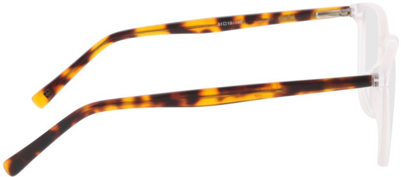 Picture of glasses model Noel-branco/castanho-mosqueado in angle 90