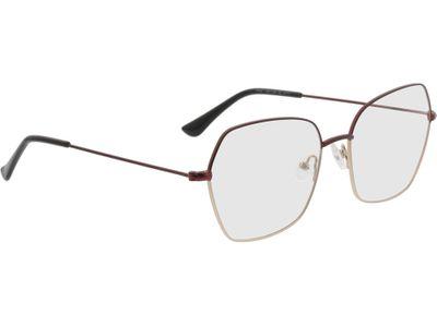 Brille Komotau-rot/gold