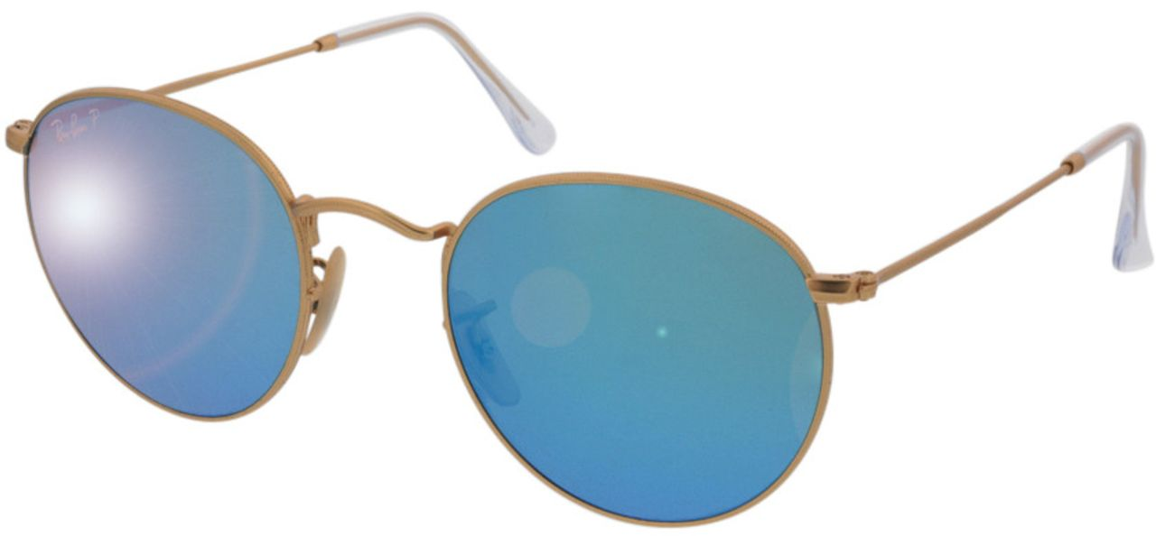 Picture of glasses model Ray-Ban Round Metal RB3447 112/4L 50-21 in angle 330