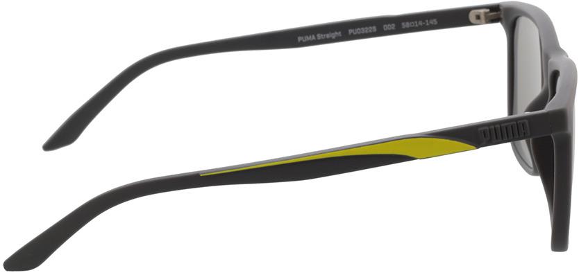 Picture of glasses model Puma PU0322S-002 58-14 in angle 90