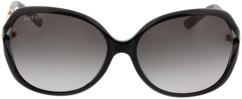 Picture of glasses model Gucci GG0076S-002 60-16 in angle 0