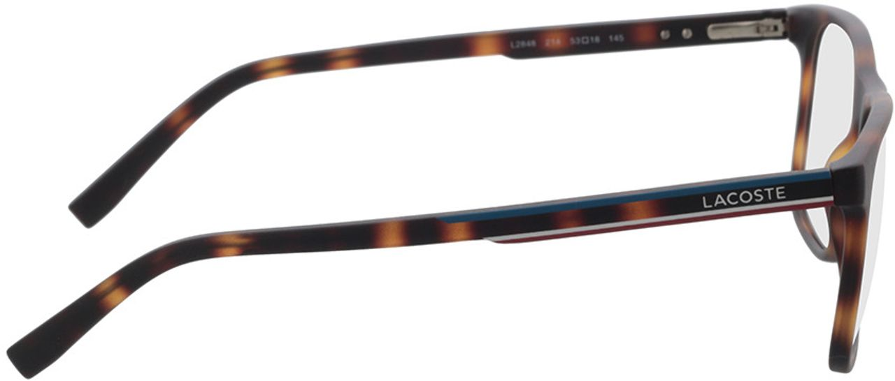 Picture of glasses model Lacoste L2848 214 53-18 in angle 90