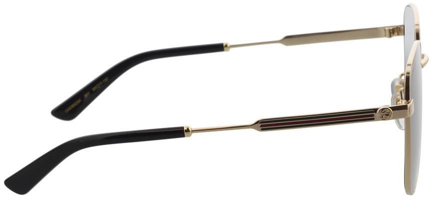 Picture of glasses model Gucci GG0852SK-001 58-17 in angle 90