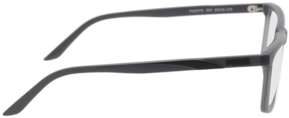 Picture of glasses model Puma PU0347O-003 56-18 in angle 90
