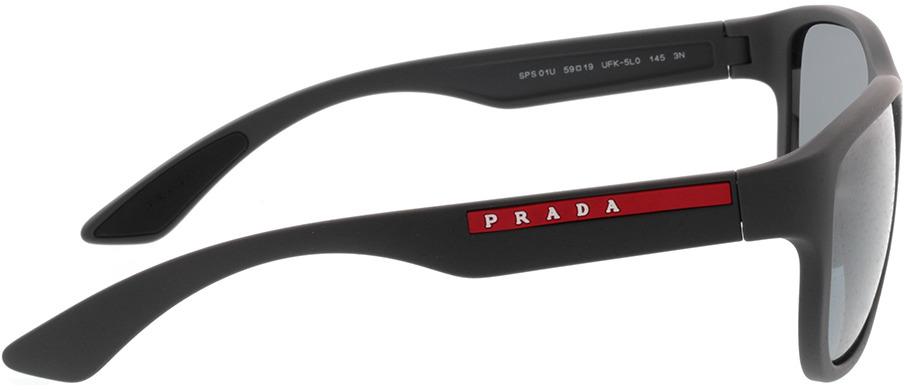 Picture of glasses model Prada Linea Rossa PS 01US UFK5L0 59-19 in angle 90