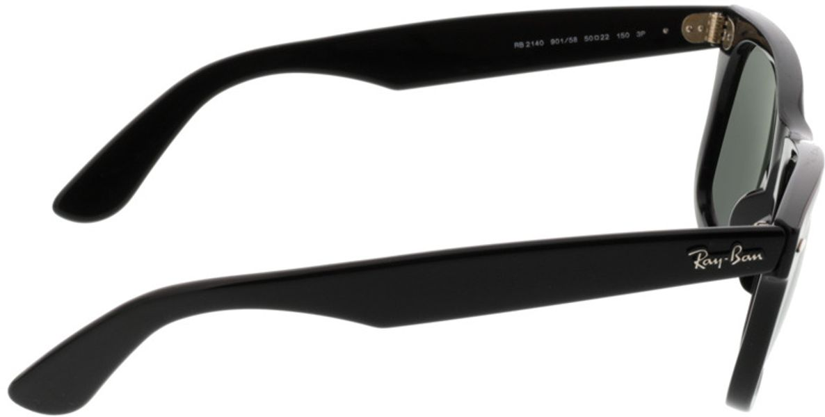 Picture of glasses model Ray-Ban Original Wayfarer RB2140 901/58 50-22 in angle 90