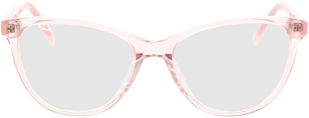 Picture of glasses model Alexia-pink-transparent in angle 0
