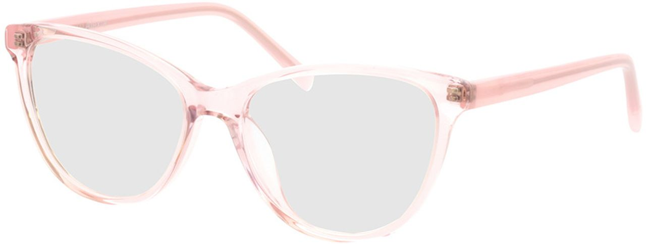 Picture of glasses model Alexia-pink-transparent in angle 330