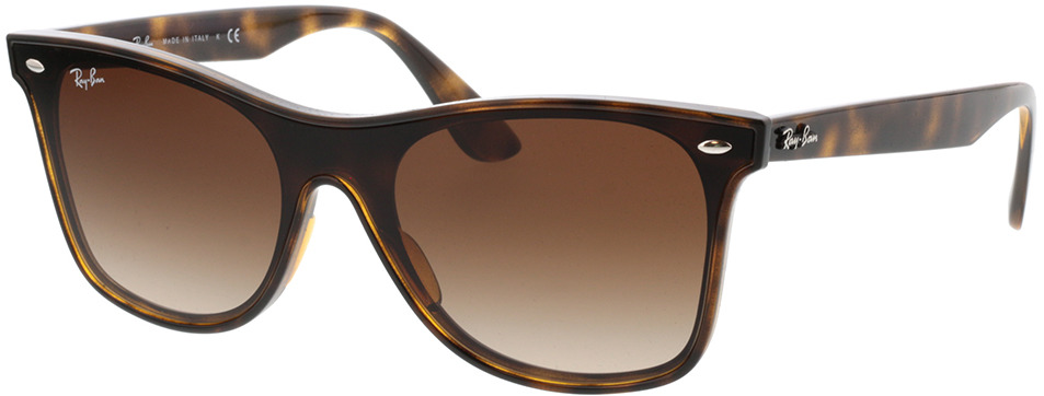 Picture of glasses model Ray-Ban Blaze Wayfarer RB4440N 710/13 41-141 in angle 330