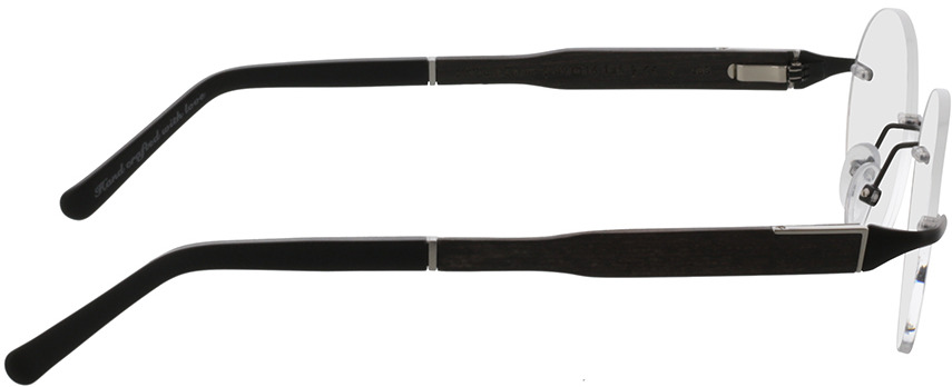 Picture of glasses model Wood Fellas Optical Thalkirchen II ebony 49-16 in angle 90