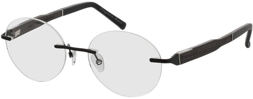 Picture of glasses model Wood Fellas Optical Thalkirchen II ebony 49-16 in angle 330