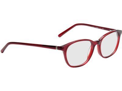 Brille Bremen-rot/transparent