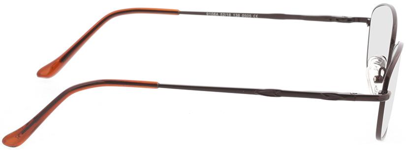 Picture of glasses model Carita-brun in angle 90