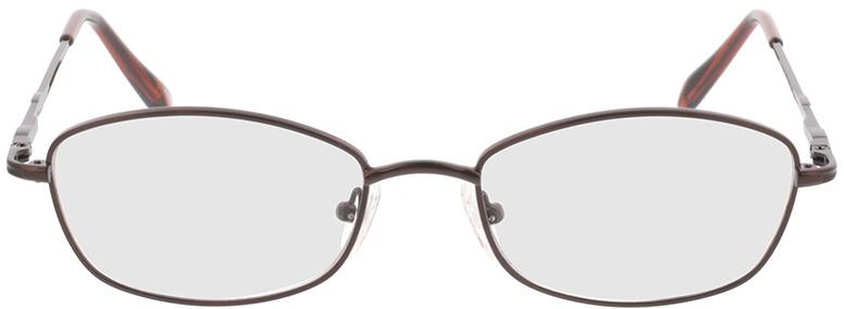 Picture of glasses model Carita-brun in angle 0