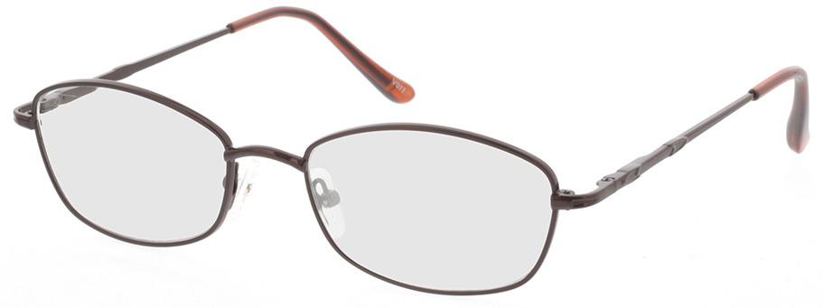 Picture of glasses model Carita-brun in angle 330