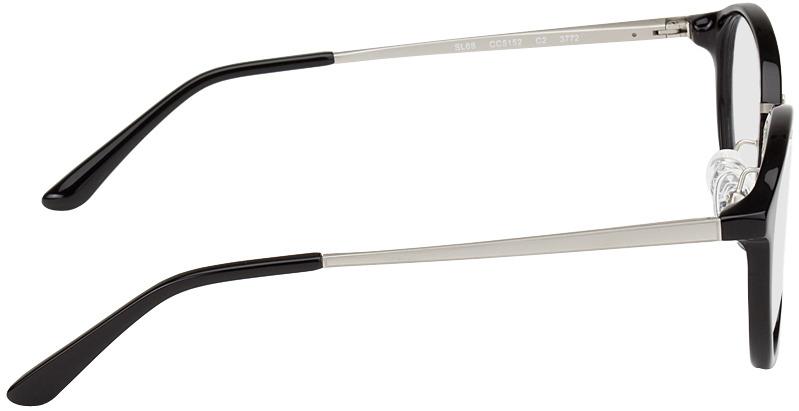 Picture of glasses model Sofia black/silver in angle 90