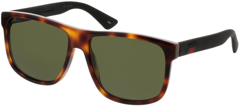 Picture of glasses model Gucci GG0010S-006 58-16 in angle 330