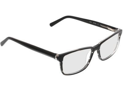 Brille Manila-schwarz-weiß-meliert