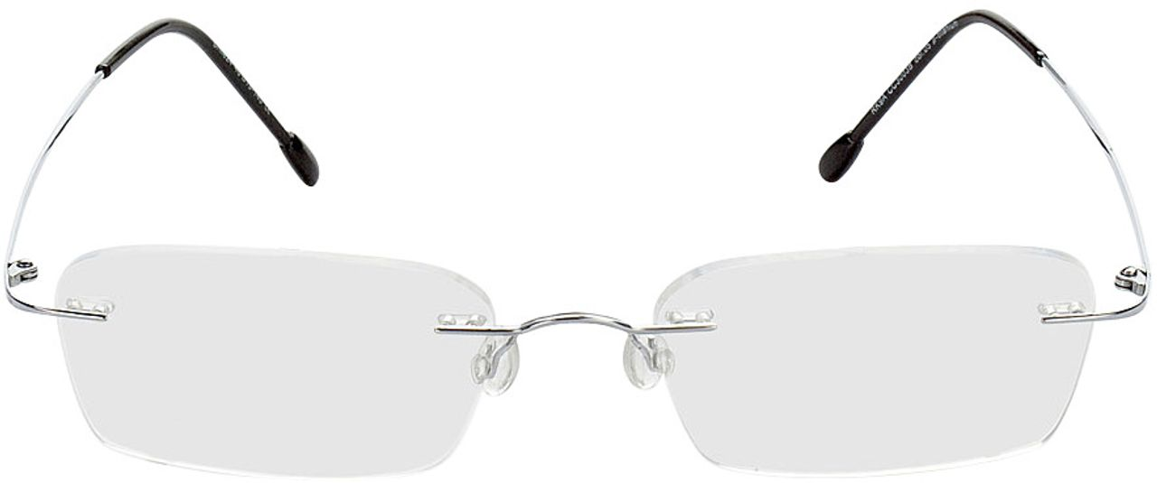Picture of glasses model Davos silver in angle 0