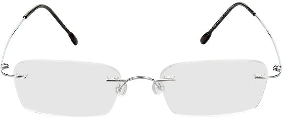 Picture of glasses model Davos-silver in angle 0