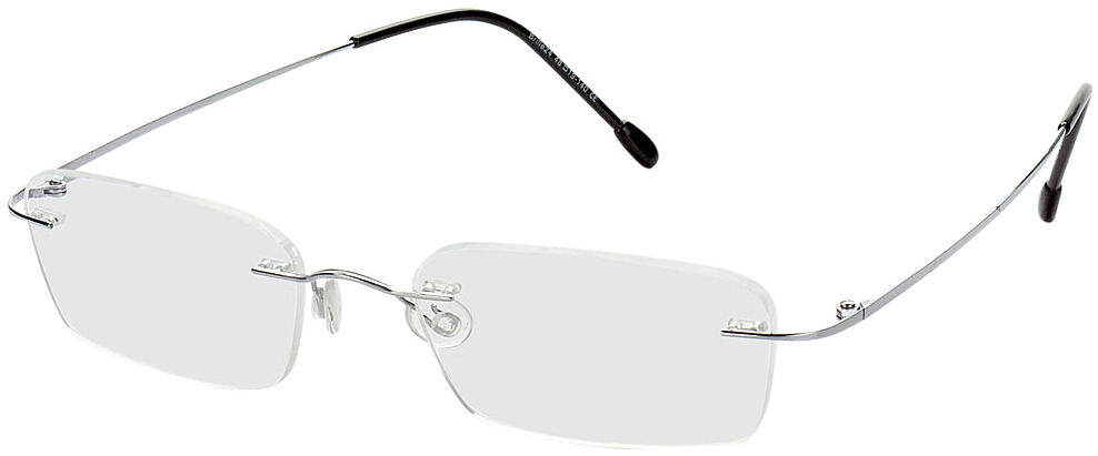 Picture of glasses model Davos silver in angle 330